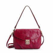 Fashion Red Genuine Leather Women Handbag Shoulder Cross body Bags 1116#