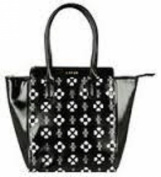 Lipsy London Black Laser Cut Bag - exclusively designed by Lipsy for Avon