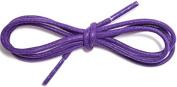 Purple Coloured Shoelaces 2.5mm 70cm Long Thin Cotton Waxed Shoe laces For Mens Shoes, Leather Oxford Brogues, Dress Shoes, Smart Shoes