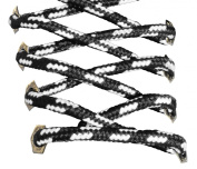 Black & White Strong Bootlaces 120cm 140cm 180 cm Long For Work Boots, Walking Boots, Hiking Boots, Dr Martens, Steel Toe Caps, Grafters Work Boots