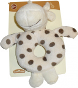 SOFT GIRAFFE DESIGN PLUSH RING RATTLE