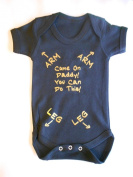 Black and Gold Writing Come On Daddy You Can Do this - New Dad - baby grow vest bodysuit onesie