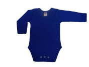 BabywearUK Body Vest Env Neck Long Sleeved - Royal blue - 12/18 months - British Made