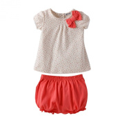 Etosell Summer Cute Kids Baby Girl Short Sleeve Tops+Short Pants Outfits Set