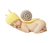 Newborn Baby Photography Props Outfit Girl Handmade Snail Costume Knitted Hat