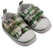 MiniFeet Canvas Baby Shoes, Stylish Cheque Velcro
