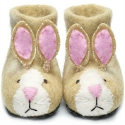 Soft Sand Felt Bunny Slippers (Shoe Size 1