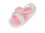 JTC Flower Baby Girls Sandal Crochet Shoes First Walking Shoes Infant Gift For Baby 4 Colours