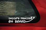 Daddy's Little Princess on board Sticker. baby girl on board car
