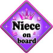 GEM JEWEL NIECE Baby on Board Car Window Sign