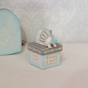 East of India Wooden Tooth Fairy Box - Blue