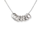 Sterling Silver 7 Seven Lucky Rings Necklace by Tales From The Earth