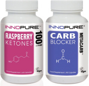 Raspberry Ketones & CARB Blocker MetaCarb Duo Pack | High Strength Formulations | 1 Month Supply | Innopure®