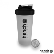 600ML HENCH NUTRITION PROTEIN POWDER SHAKER - CLEAR