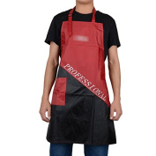 Black+Red Salon Hairdressing Hair Cutting Apron Cape for Barber Hairstylist