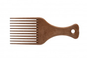 Eurostil Styling Comb Afro Comb with handle 11 tines made of plastic with wood finish