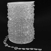 30m Crystal Beads Garland By the Roll for Wedding Holiday Decorations