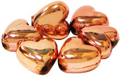 Linpeng Heart Shaped Metallic Plastic Beads Gold and Copper Colour Approx 9mm 0.2kg Per Bag