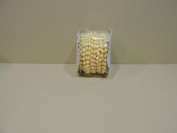 12 Yards of 6mm Faux Pearl Plastic Beads on a String Craft Roll
