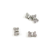 40 Pieces Wholesale Supplies Ancient Silver Fashion Jewellery Making Charms Findings W-13645 Butterfly Bead Pendant Craft DIY Vintage Alloys Necklace Bulk Supply Accessoires