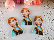 10pcs/lot Princess Anna Resin for Bows, Flat Back Resin Cabochons for Hair Bows Cellphone Cases Crafts Decorations and Scrapbooking