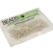 BeadsMonster Jewellery Findings Jump rings for Jewellery design and Making , Silver Colour, 5mm, 20g