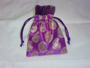 Organza Jewellery Pouch Wedding Party Favour Gift Bag Handmade Premium Quality (4ʺx5ʺx3ʺ) - 12 Bags