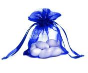 100pcs Deep Blue Organza Drawstring Pouches Jewellery Party Wedding Favour Gift Bags 10cm x 13cm
