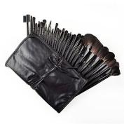 Amazing2015 32 Pcs Black Rod Makeup Brush Cosmetic Set Kit