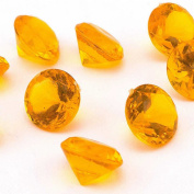 Adorox Mini Acrylic Crystal Gems Diamond Vase Filler Confetti Table Scatter Pirate Treasure (Orange