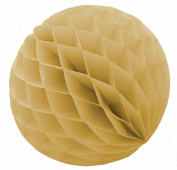 "SUNBEAUTY 6""(15cm) Pack of 5 Tan Colour Tissue Paper Honeycomb Balls Wedding Decoration Birthday Baby Shower Bridal Shower"