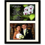 Parent Wedding Gift - Thank You from Bride or Groom - Add Photo Behind Mat Board in 20cm x 25cm Frame