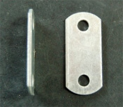 "Flat ( 0"" ) Depth --- Offset Mounting Canvas Z Clips For Picture Framing -- #15cm X 1cm Pan-Head Screws Included -- Pack of ONE HUNDRED FORTY FOUR"