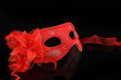 Luxury Mysterious Brocade Lace Crystals Mask Women's Venetian Pretty Masquerade Mask