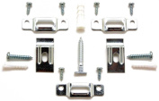 Picture Frame Security Hardware Complete Sets for Wood or Metal Frames up to 150cm Wide - Fifty (50) Complete Sets with Two Wrenches