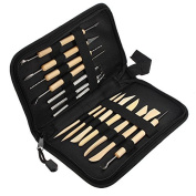 14PCS Wooden Metal Pottery Clay Moulding Sculpting Tools