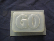 Qty-2 Go Bar Soap or Plaster Mould 4642