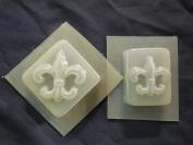 Fleur De Lis Soap Mould Set of 2 4681