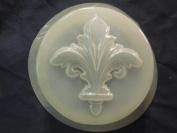 Qty-2 Fleur De Lis Round Bar Soap or Plaster Mould 4651