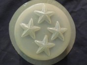 Qty-2 Stars Round Bar Soap or Plaster Mould 4648