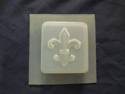 Qty-2 Fleur De Lis Square Soap or Plaster Mould 4623