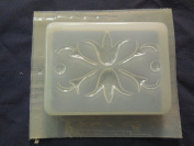 Qty-2 Floral Pattern Bar Soap or Plaster Mould 4573
