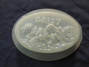 Qty-2 Daisy Flower Oval Bar Soap or Plaster Mould 4533