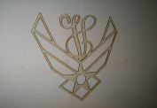 Unfinished Wood Air Force Vine Monogram in 44cm Tall