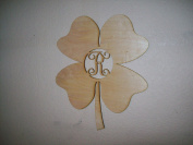 Unfinished Wood St. Patrick's Shamrock Four Leaf Clover Vine Monogram 44cm Tall