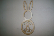 Unfinished Wood Easter Bunny Head and Body Vine Monogram in 60cm Tall