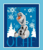 110cm Wide Disney Frozen Olaf Cotton Fabric By The Panel