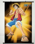 Home Decor Anime One Piece Wall Scroll Poster Fabric Painting Luffy 357 L