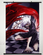 Home Decor Anime Tokyo Ghoul Wall Scroll Poster Fabric Painting Kaneki Ken 174 S
