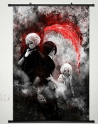 Home Decor Anime Tokyo Ghoul Wall Scroll Poster Fabric Painting Kaneki Ken 167 L